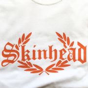 SKINHEAD T-SHIRT  ORANGE & WHITE